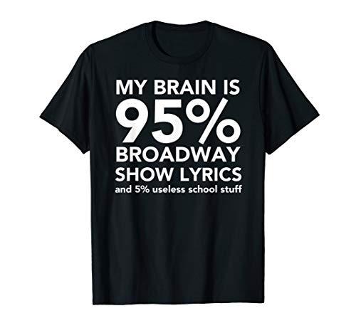 My Brain is 95% Broadway - Fun Drama Actor Actress Gift