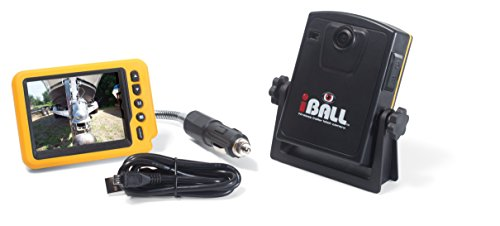 iBall 5.8GHz Wireless Magnetic Trailer Hitch Car Truck Rear View Camera LCD Monitor