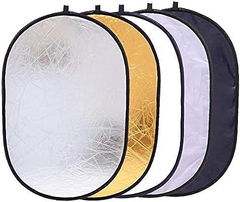 24x36//60x90cm 5 in 1 Oval Light Reflector Portable Camera Light Diffuser Kit