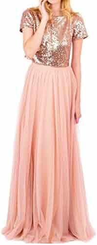 54b2c99fd3 CoutureBridal Long Tulle Skirt for Womens Elastic Tutu Maxi Skirts Prom  Bridal Customizable