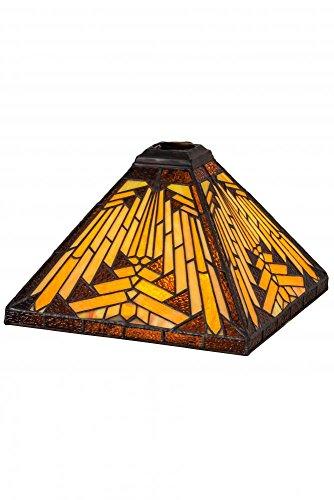 Meyda Tiffany 65906 Shade, Bronze/Dark (Glass Lamp Stained Floor Meyda Tiffany)