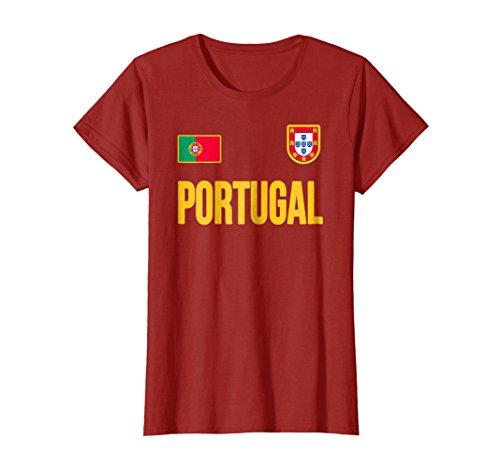 Portugal T-shirt Portuguese Flag Soccer Football Fan Jersey