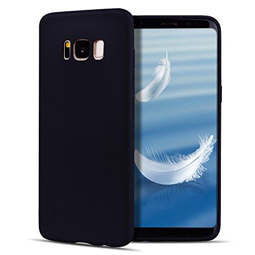 Funda Galaxy S8 Plus , SpiritSun Soft TPU Silicona Handy Candy Carcasa Funda para Samsung Galaxy S8 Plus Suave Silicona Piel Carcasa Ultra Delgado y Ligero Goma Flexible Phone Case Cover - Azul Negro