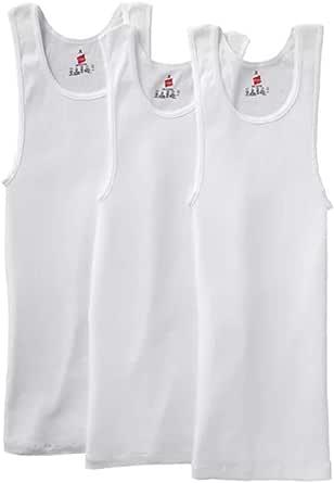 Men/'s Cotton Plus White A-Shirts Rib Tank Top Muscle Shirts Size 4X-Large 2