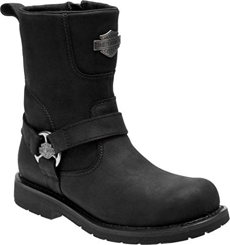Harley-Davidson Men's Stokes Leather Motorcycle Harness Boots D96171 (BK, 9)
