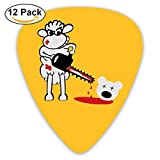 Celluloid Guitar Picks Best Gift For Guitar Lover Acoustic Guitar Plectrums,Print Chainsaws Sheep,0.46Mm/0.73Mm/0.96Mm,12
