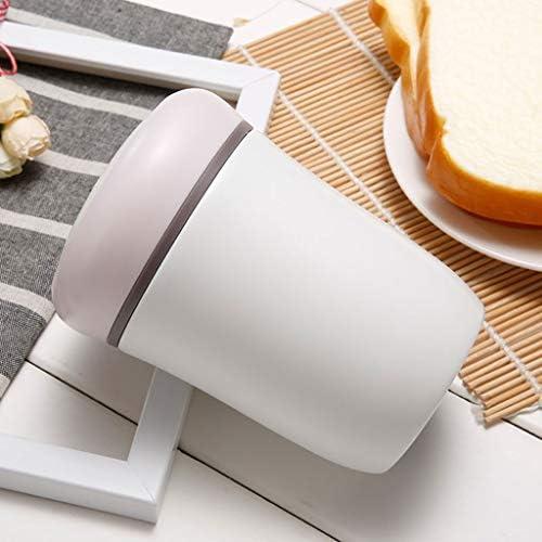 保温 弁当箱 500 Ml魔法瓶ステンレス食品フラスコ、漏れ防止真空断熱食品容器 (Color : Pink)