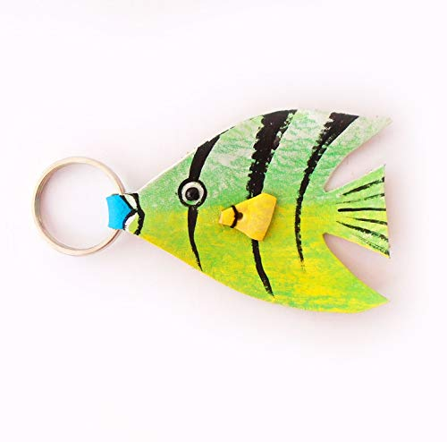 Colorful Tropical Fish Keychain Leather (Tropical Fish Keychain)