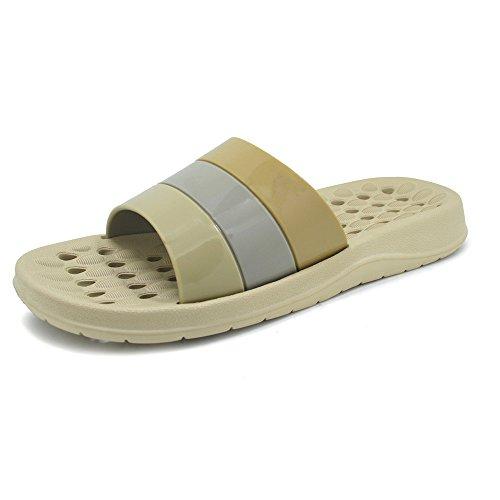Skid Thongs Anti Slippers Flops Fashion Beach Bathroom Summer Unisex Adult Flat Slippers Sandal Polliwoo Khaki Massage Slipper Sandals Flip F4TwBZq