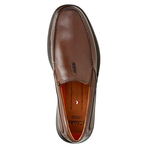Clarks Uomo uneasley Twin Mocassini & Slip-ons Scarpe Dark Brown Leather
