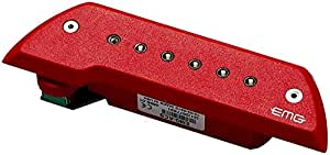 EMG ACS Red Acoustic Sound Hole Pickup Red Active Chrome Poles w/Bonus RIS Pick (x1) 654330500671