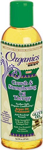 Africa's Best Organics Growth & Strengthening Oil Therapy Argan Oil Treatment 8oz
