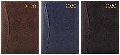 Agenda semanal 2020 tama/ño A5 Planificador WTV de tama/ño A5 de tapa dura y encuadernado colores variados