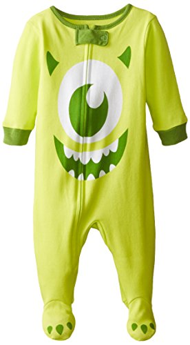 [Disney Baby-Boys Infant Monsters Inc Big Face One Piece Cotton Blanket Sleeper, Green, 6-9 Months] (Baby Monsters Inc)
