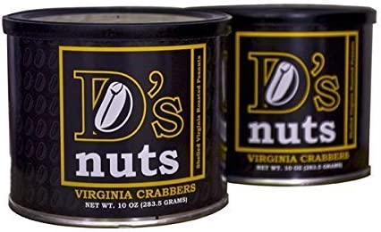 D's Nuts Virginia Crabber Old Bay Peanuts and Salted Cans