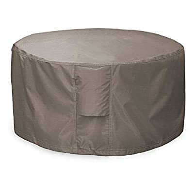 Leader Accessories Full Coverage Round Fire Pit/Bistro Table Cover Heavy Duty & Waterproof Fabric