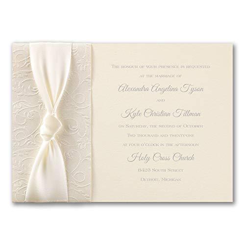 (1250pk Filigree and Satin - Invitation-Shop All Wedding)