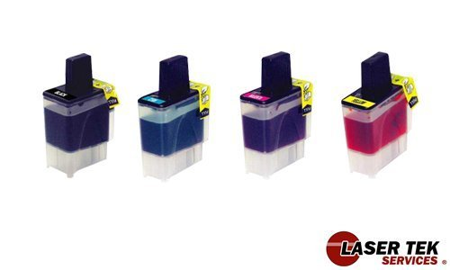1840c Inkjet (Laser Tek Services Compatible Ink Cartridges for Brother DCP-110C, 120c, Intellifax 1840C, 1940CN, 2440C MFC-210C, 3240C, 3340CN, 420CN, 5440CN, 5840CN, 620CN, 640CW (LC41- BK, C, M, Y))