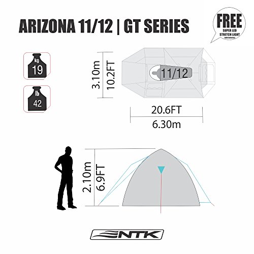 NTK-Super-Arizona-GT-up-to-12-Person-  sc 1 st  Discount Tents For Sale & NTK Super Arizona GT up to 12 Person 20.6 by 10.2 by 6.9 Height ...