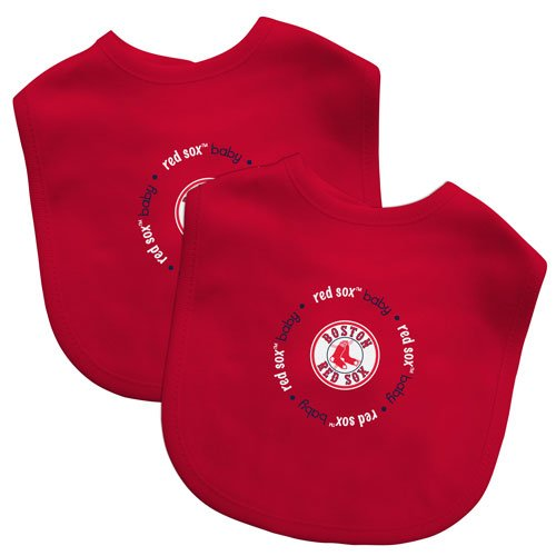 (2 pack Red Boston Red Sox Baby Bibs Baby Fanatics)