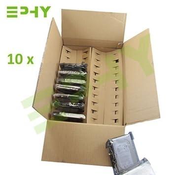 10X Cajas Almacenamiento Transporte Disco Duro HDD de Computadora Personal PC Contenedor Reutilizable Cartón Protector Medidas 50 x 8,8 cm: Amazon.es: ...