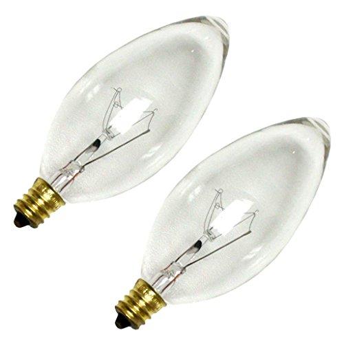 (Sylvania 13263 - 60B13/C/CL FAN 2PK B13 Decor Torpedo Light Bulb)
