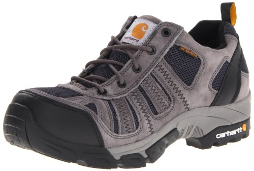 Carhartt Men's CMO3356 Lightweight Low-Rise Composite Toe Work Hiker Boot,Grey Suede/Navy Nylon,9 W US