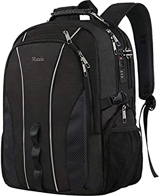 Large Travel Backpack, TSA Friendly Business Computer Backpack with Security Lock/USB Charging Port for Men&Women, Durable Anti Theft Big College School Bookbag Fits 17 Inch Laptop&Notebook from Caseby