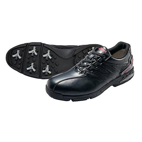 本間ゴルフ TOUR WORLD メンズ ゴルフシューズ アスリートモデル ブラック/ブラック 28cm 2E SS-1601 原産国:中国 素材:甲(人工皮革)、 底(合成ゴム/EVAスポンジ)、 鋲(スティンガーIII 、 取付方式:トライロック/鋲数:片足7個)   B077HKMMJ7