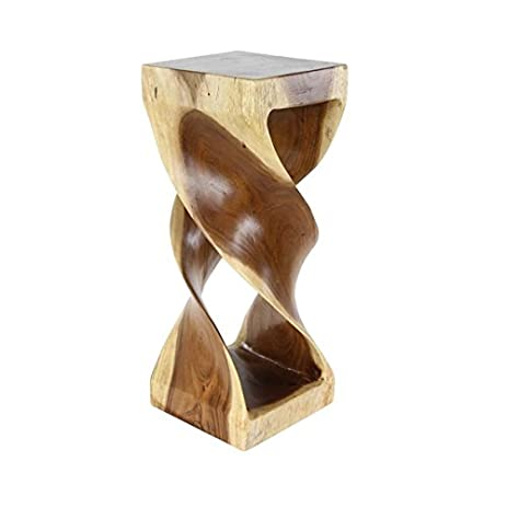 Studio 350 Suar Wood Side Table 12 Inches Wide, 30 Inches High