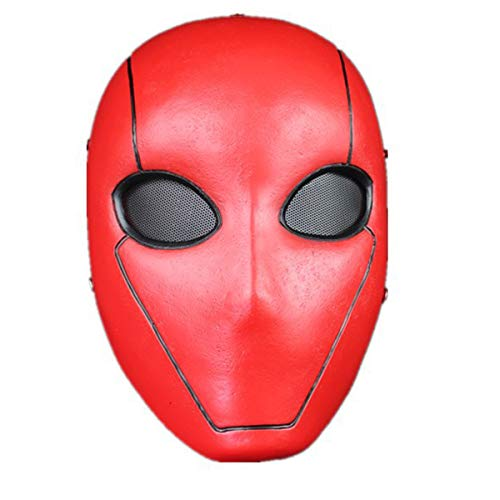 WalkingMan UTRH Red Hood Mask Deluxe Movie Resin Helmet Full Face Halloween Cosplay Costume Party Props Adult