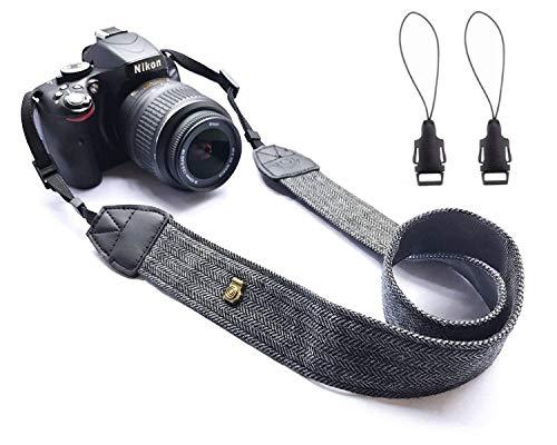 Wanby Neck Shoulder Belt Strap, Vintage Print Soft Colorful Camera Straps  Women/Men, All DSLR/Nikon/Canon/Sony/Olympus/Samsung/Pentax/Olympus(Black)