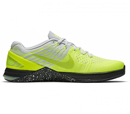 Nike Metcon Dsx Flyknit Sz 11.5 Mens Cross Training Volt/Ghost Green-Pure Platinum-Black Shoes