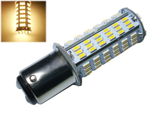 GRV Ba15d 1076 1142 1176 LED bulb 126*3014 SMD AC/DC 11-28V 4W High Bright Warm White Pack of 2