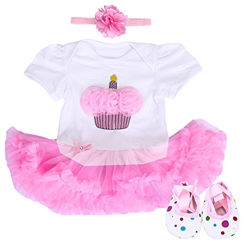 infant cupcake birthday dress - 6