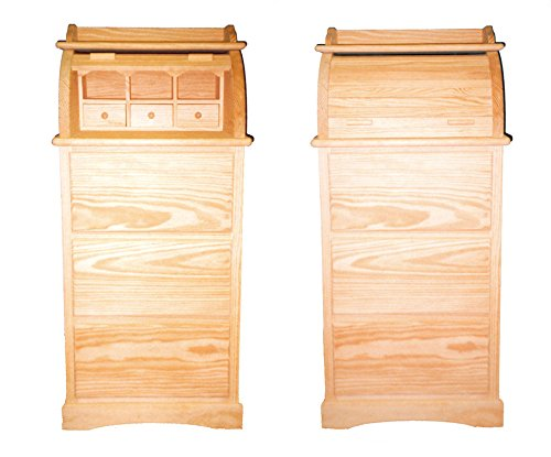 Bureau. Mueble persiana con cajones. En Pino en Crudo, para Pintar. Medidas (Ancho/Fondo/Alto): 55 * 45 * 120