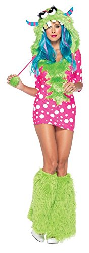GTH Women's Sexy Melody Monster Fairytale Theme Fancy Halloween Costume, Medium/Large (Sexy Melody Monster Costumes)