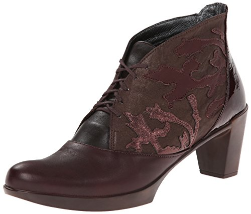 Naot Women's Baccio Boot, Shiraz/French Roast/Brown Shimmer, 42 EU/11 M (Two Hands Shiraz)