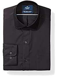 Amazon Brand - BUTTONED DOWN Men's Classic Fit Stretch Poplin Dress Shirt, Supima Cotton Non-Iron, Spread-Collar