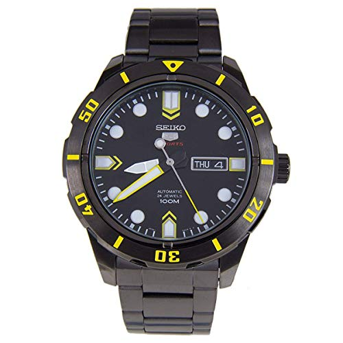 Seiko 5 Sports #SRP679 Men's Black IP Stainless Steel 100M Automatic - Black Seiko Monster Automatic
