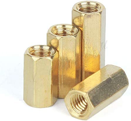 100Pcs M3 Brass Spacer M35//6//7//8//10//11//12//14//15//16//18//20//25//30 Female To Hex Standoff Double Flat Copper Hollow Cylinders 5mm M3