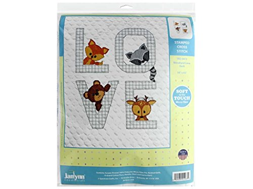 Baby Animals Quilt Stamped Cross - Janlynn 182-0413 Kit Baby 34x43 Woodland Love