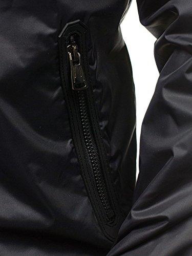 8011 Aperta Mix Bolf Di Da All'aria Sport Militare Costine Uomo Giacca Black Con 4d4 Zip Transizione Cappuccio Casuale Pianura ZAOWIU
