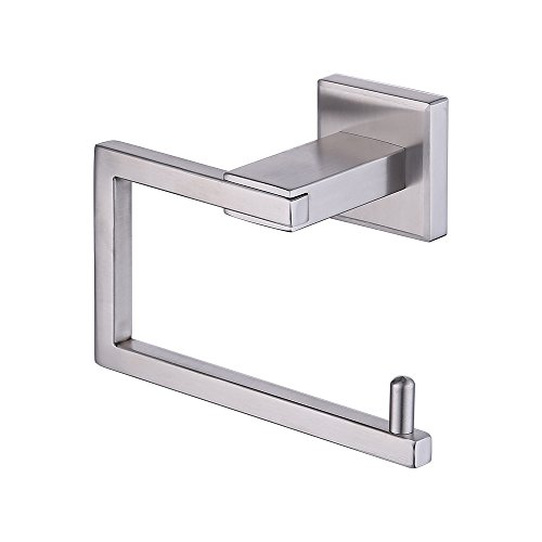 (KES SUS 304 Stainless Steel Toilet Paper Holder Storage Rustproof Bathroom Paper Towel Dispenser Tissue Roll Hanger Contemporary Square Style Wall Mount Brushed Finish, A2470-2)