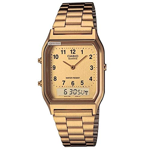 Casio Unisex AQ230GA-9BVT Watch Gold