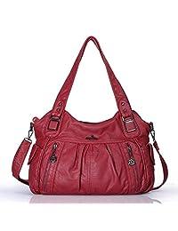 Angelkiss Women's Waterpoof Handbags and Purses for Women Satchel Top Handle Bags/Crossbody Bags Ladies' Shopping Tote Handbags Large Capacity Satchel Shoulder Bags 0062