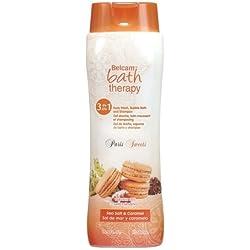 Belcam Bath Therapy Paris Sweets 3-in 1 Body Wash/Bubble Bath/Shampoo, Sea Salt/Caramel, 16.9 Fluid Ounce