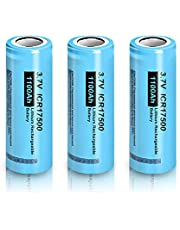 ICR 17500 1100mAh 3.7V Rechargeable Lithium Ion Battery (3pcs)