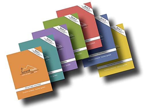 Summit Math Series Bundle Set: Algebra 1 - Books 1-7 (updated 2018) Full Bundled Set of 7 Algebra Workbooks