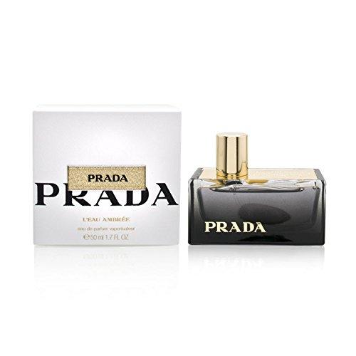 Prada L'Eau Ambree by Prada Eau De Parfum Spray for Women, 1.70 Ounce Ambre Eau De Parfum